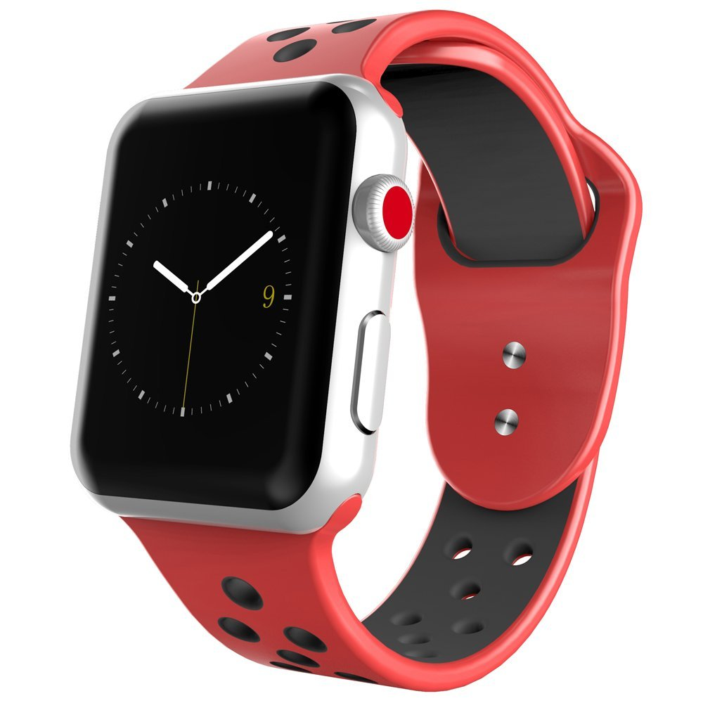Replacement Silicone Band for Apple iWatch Dual Color