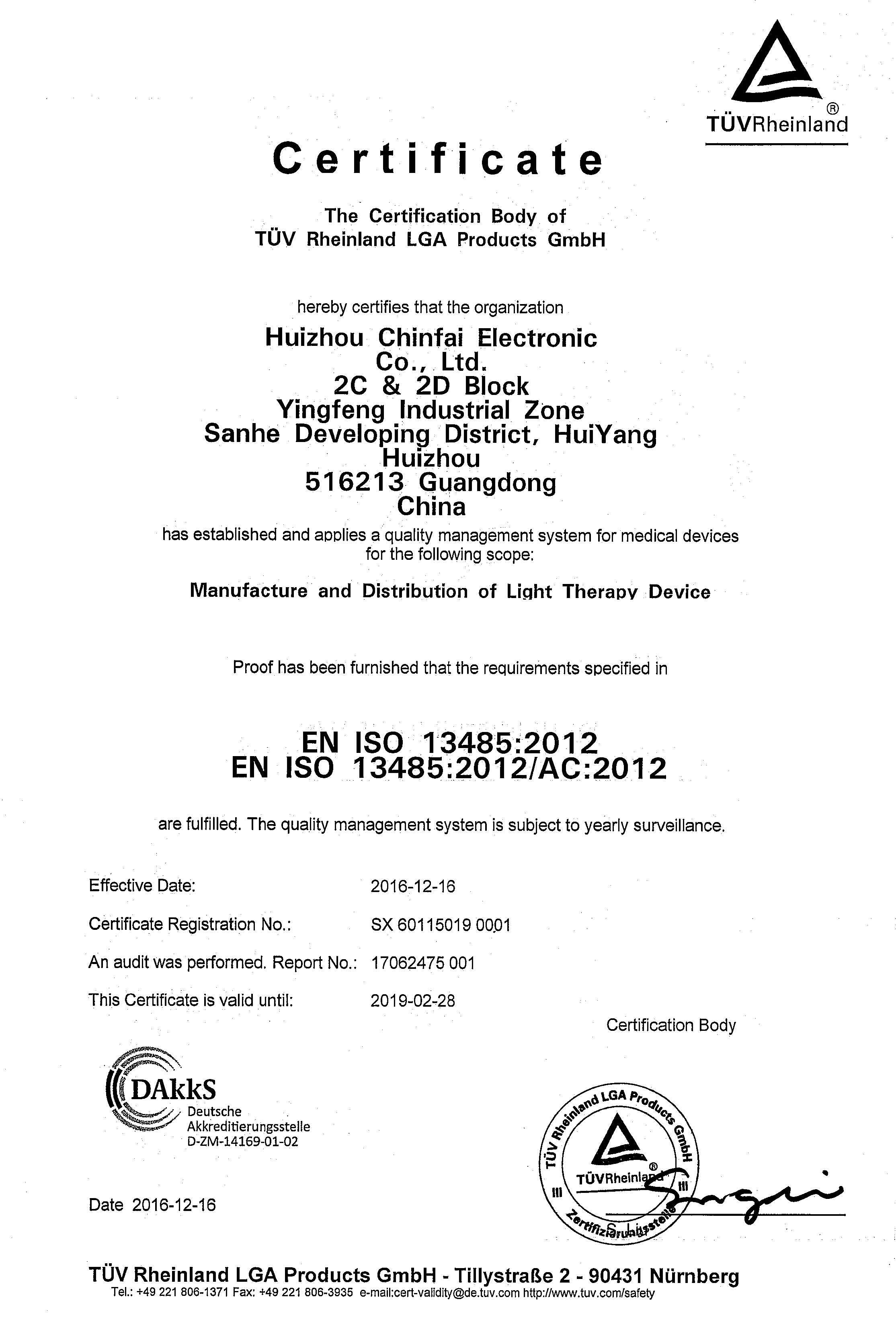 <span>EN ISO 13485:2012</span>