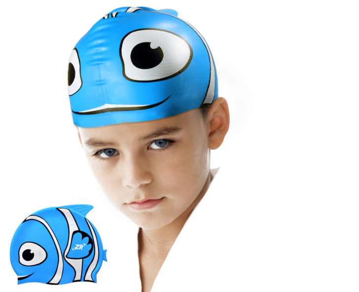 Start Smart Kids Fun Waterproof Custom Silicone Swim Cap for Boys and Girls