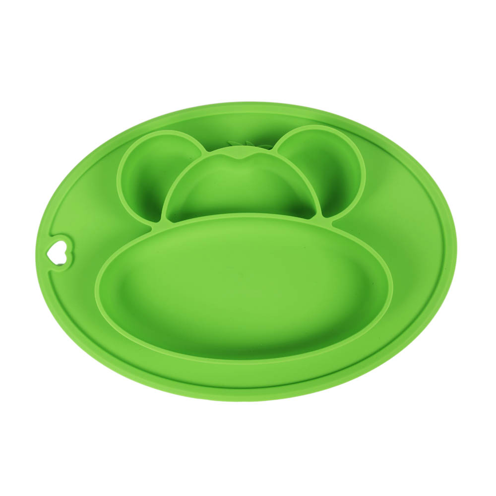 Easy feeding portable Silicone baby suction plate placemat kids meal plate